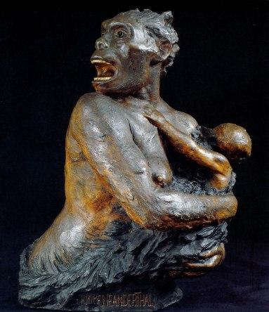 Escultura «Femme de la race de Néandertal», de Louise Mascré